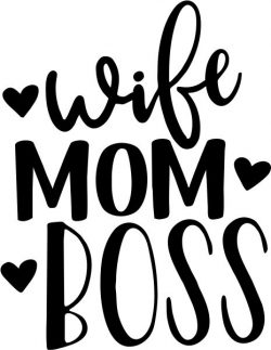 wife mom boss T-shirt print image
