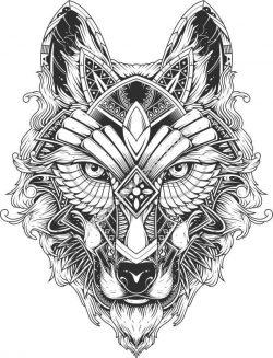 wolf art vector