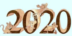 New year mouse 2020