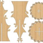 2 story flower display shelf free vector download for Laser cut CNC