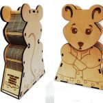 New year mouse box file cdr and dxf free vector download for Laser cut CNC
