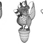 3D SQUIRREL LED LIGHT file cdr and dxf free vector download for printers or laser engraving machines