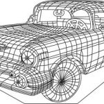 3D antique car  Illusion led lamp  file cdr and dxf free vector download for printers or laser engraving machines