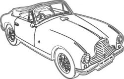 3D car Illusion file cdr and dxf free vector download for printers or laser engraving machines
