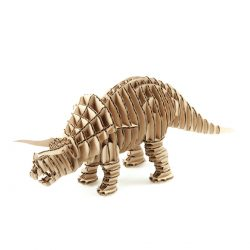 3D puzzle Triceratops file cdr and dxf free vector download for Laser cut