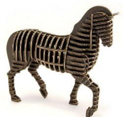 3D puzzle horse model  file cdr and dxf free vector download for Laser cut