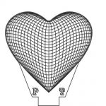 3d heart shaped led light file cdr and dxf free vector download for printers or laser engraving machines