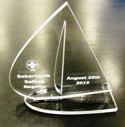 Acrylic Trophy file cdr and dxf free vector download for Laser cut CNC