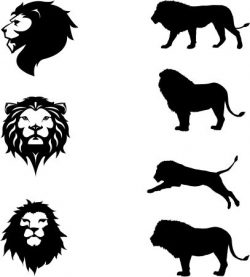 African lions symbol file cdr and dxf free vector download for Laser cut plasma
