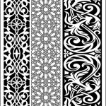 An impressive decorative baffle pattern file cdr and dxf free vector download for CNC cut