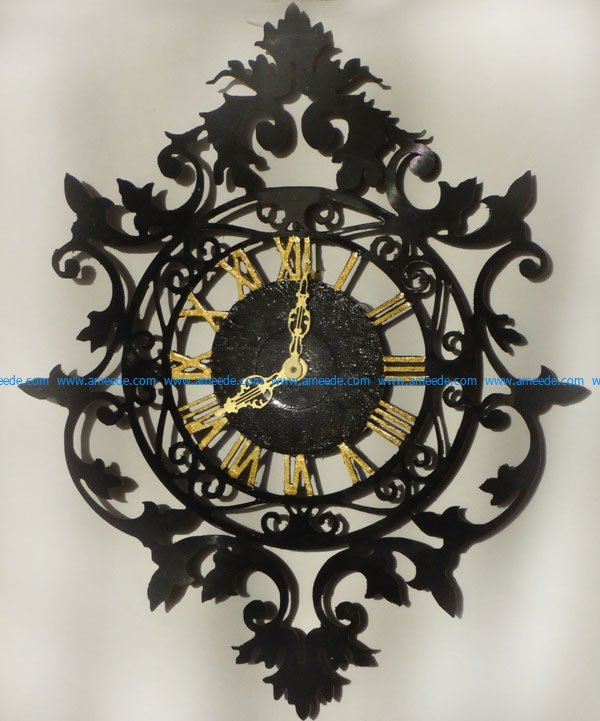 Ancient art wall clock file cdr and dxf free vector download for Laser cut CNC