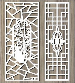 Ancient pattern behind the garden file cdr and dxf free vector download for Laser cut CNC