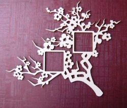 Apricot tree picture frame file cdr and dxf free vector download for Laser cut CNC
