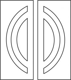 Arc motifs door design  file cdr and dxf free vector download for CNC cut
