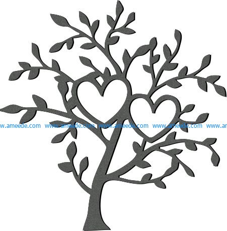 Art tree and two hearts file cdr and dxf free vector download for Laser cut plasma