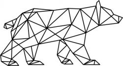 Artistic polar bear file cdr and dxf free vector download for Laser cut plasma