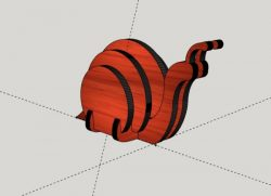 Assemble slug made of wood file cdr and dxf free vector download for Laser cut CNC