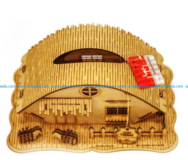 Assembly model of farm animals file cdr and dxf free vector download for Laser cut CNC