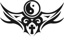 Bagua and cross file cdr and dxf free vector download for print or laser engraving machines