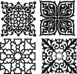 Beautiful decorative pattern file cdr and dxf free vector download for Laser cut CNC
