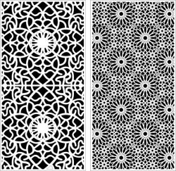 Beautiful floral texture bulkhead design file cdr and dxf free vector download for Laser cut CNC