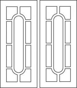 Beautiful wooden door designs file cdr and dxf free vector download for CNC cut