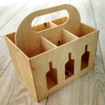 Beer Box Caddy file cdr and dxf free vector download for Laser cut CNC