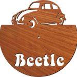 Beetle Car wall clock free vector download for Laser cut plasma