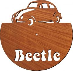 Beetle Car wall clock free vector download for Laser cut plasma