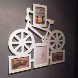 Bicycle photo frame file cdr and dxf free vector download for Laser cut CNC