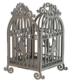 Bird cage model file cdr and dxf free vector download for Laser cut