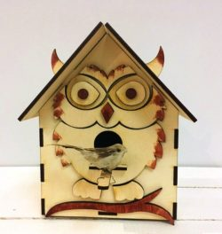 Bird house shaped like an owl file cdr and dxf free vector download for Laser cut CNC