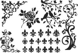 Birds and trees file cdr and dxf free vector download for print or laser engraving machines