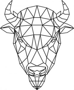 Bison head 3d murals file cdr and dxf free vector download for Laser cut Plasma file Decal