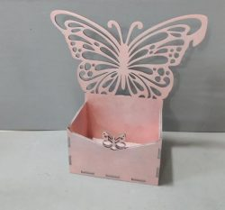 Box with Butterfly file cdr and dxf free vector download for Laser cut CNC