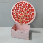 Box with Hearts Tree file cdr and dxf free vector download for Laser cut CNC