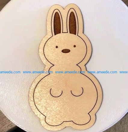 Bunny file cdr and dxf free vector download for Laser cut CNC