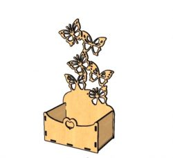 Butterflies fly out of a wooden box file cdr and dxf free vector download for Laser cut plasma