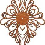 Butterfly-shaped wall clock free vector download for Laser cut plasma