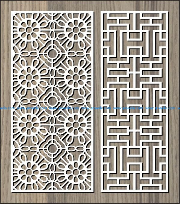 Cabbage-shaped bulkhead and tiles free vector download for Laser cut CNC
