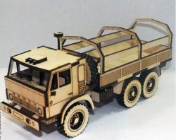 Car model Kamaz file cdr and dxf free vector download for Laser cut CNC