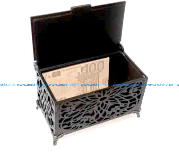 Carved Wooden Box Template File Cdr And Dxf Free Vector