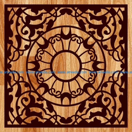 Carved gift box pattern file cdr and dxf free vector download for Laser cut
