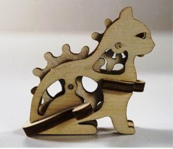 Cat assembly model file cdr and dxf free vector download for Laser cut CNC