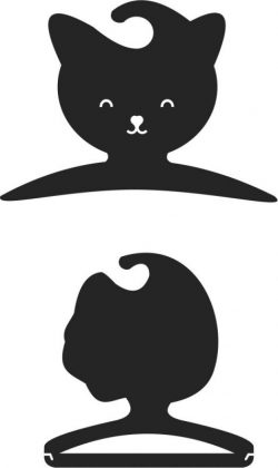 Cat clothes hangers file cdr and dxf free vector download for Laser cut CNC