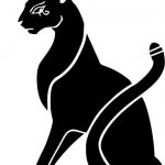 Cat icon file cdr and dxf free vector download for print or laser engraving machines