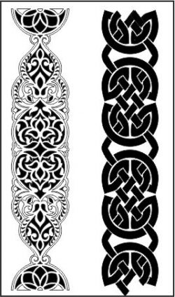 Celtic pattern  file cdr and dxf free vector download for CNC cut