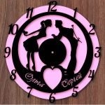 Chasy Para clock file cdr and dxf free vector download for Laser cut CNC