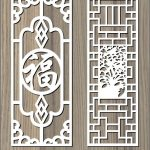 Chinese ancient pattern file cdr and dxf free vector download for Laser cut CNC
