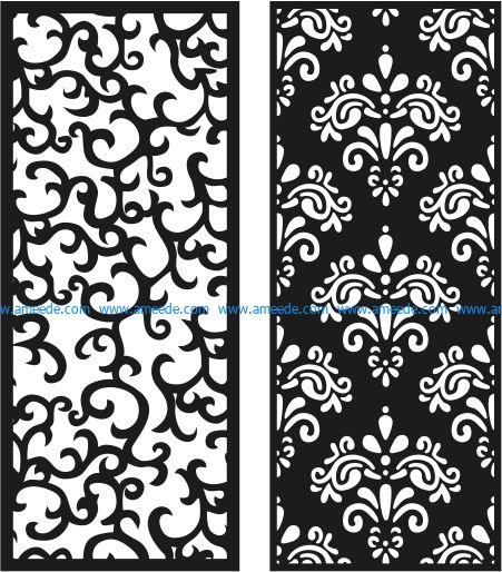 Chinese pattern partition file cdr and dxf free vector download for Laser cut CNC